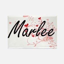Marlee Artistic Name Design with Hearts Magnets