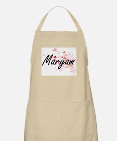 Maryam Artistic Name Design with Hearts Apron