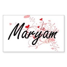 Maryam Artistic Name Design with Hearts Decal