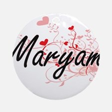 Maryam Artistic Name Design with Ornament (Round)