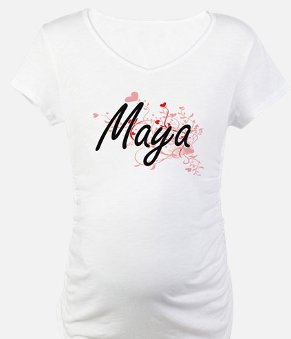 Maya Artistic Name Design with H Shirt