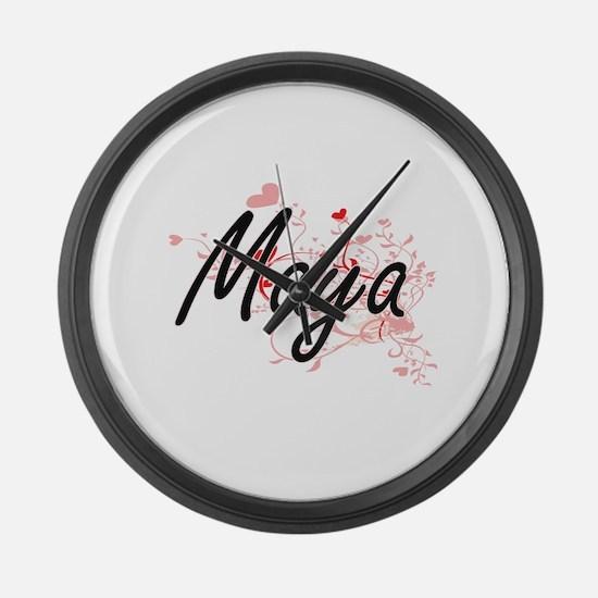 Maya Artistic Name Design with He Large Wall Clock
