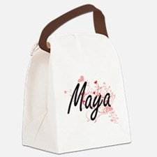 Maya Artistic Name Design with He Canvas Lunch Bag
