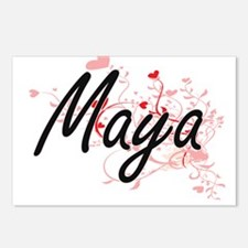 Maya Artistic Name Design Postcards (Package of 8)