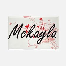 Mckayla Artistic Name Design with Hearts Magnets