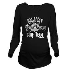 Bahamas Surf Team Long Sleeve Maternity T-Shirt