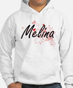 Melina Artistic Name Design with Hoodie