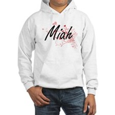 Miah Artistic Name Design with H Hoodie Sweatshirt