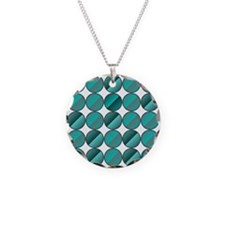 Split turquoise circles Necklace