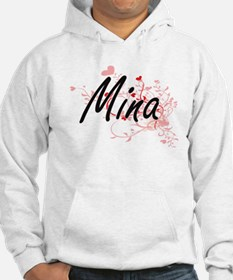 Mina Artistic Name Design with H Hoodie