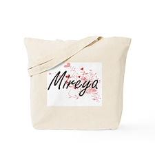 Mireya Artistic Name Design with Hearts Tote Bag