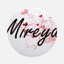 Mireya Artistic Name Design with Ornament (Round)