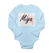 Miya Artistic Name Design with Hearts Body Suit