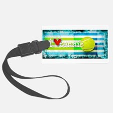 i love vintage tennis Luggage Tag