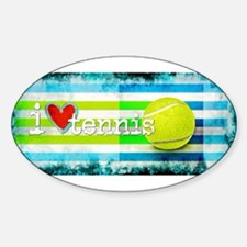 i love vintage tennis Decal