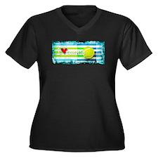 i love vintage tennis Plus Size T-Shirt