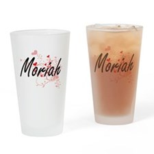 Moriah Artistic Name Design with He Drinking Glass