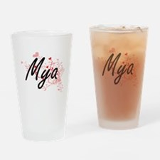 Mya Artistic Name Design with Heart Drinking Glass