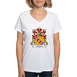 Chatelet Family Crest Women's V-Neck T-Shirt