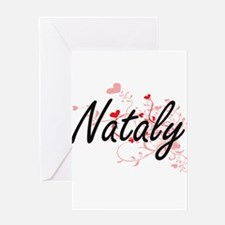 Nataly Artistic Name Design with He Greeting Cards