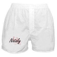 Nataly Artistic Name Design with Hear Boxer Shorts