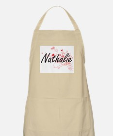 Nathalie Artistic Name Design with Hearts Apron