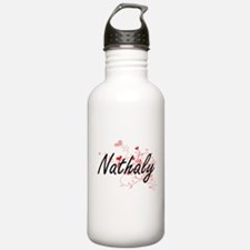 Nathaly Artistic Name Water Bottle
