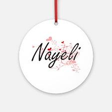 Nayeli Artistic Name Design with Ornament (Round)