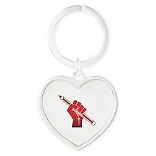 Cute Authority Heart Keychain