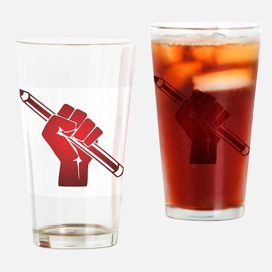 Unique Writer Drinking Glass