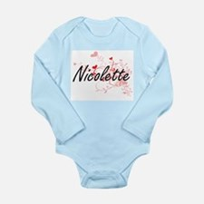 Nicolette Artistic Name Design with Hear Body Suit