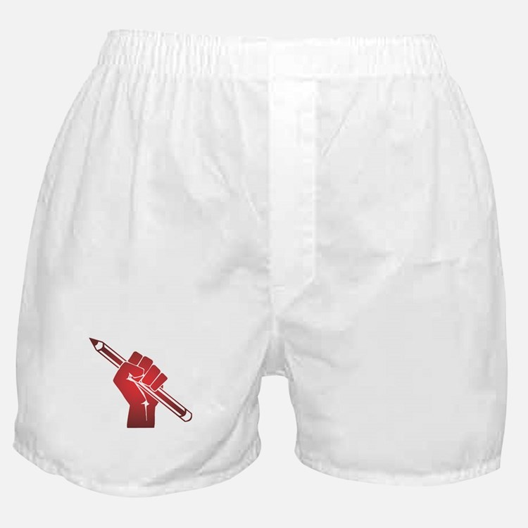 Pencil in a Raised Fist Boxer Shorts