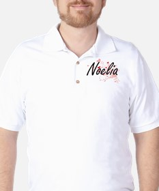 Noelia Artistic Name Design with Hearts T-Shirt