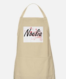 Noelia Artistic Name Design with Hearts Apron