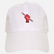 Pencil in a Raised Fist Baseball Baseball Cap