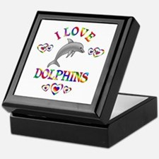 I Love Dolphins Keepsake Box