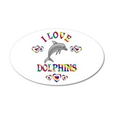 I Love Dolphins Wall Decal