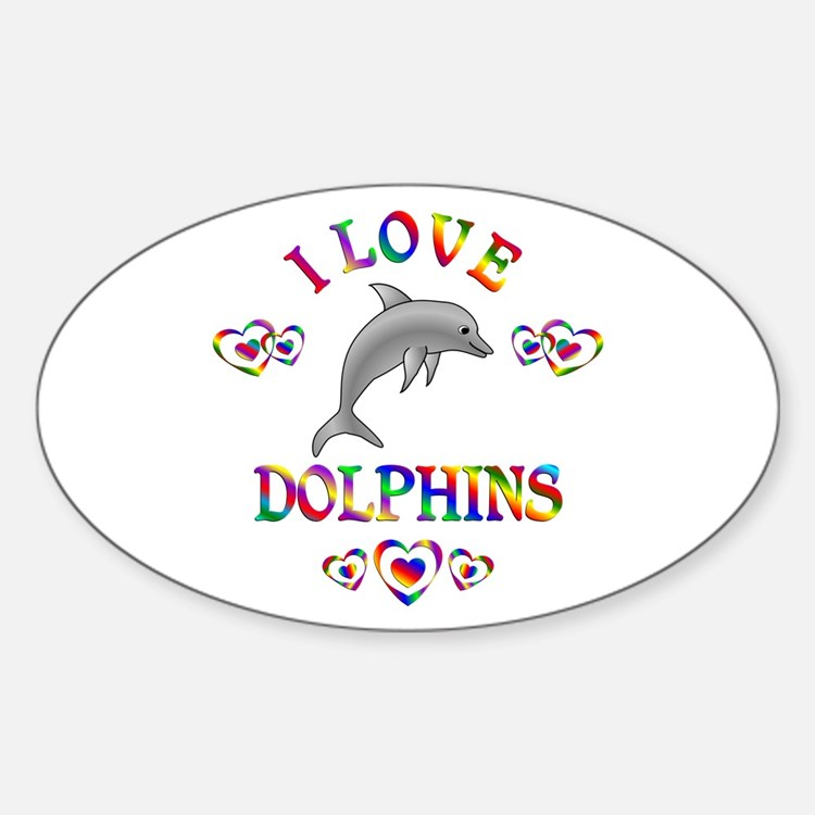 I Love Dolphins Decal
