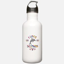 I Love Dolphins Water Bottle