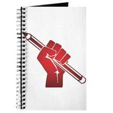 Pencil in a Raised Fist Journal