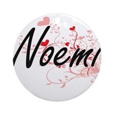 Noemi Artistic Name Design with H Ornament (Round)