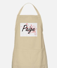 Paige Artistic Name Design with Hearts Apron