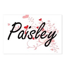 Paisley Artistic Name Des Postcards (Package of 8)