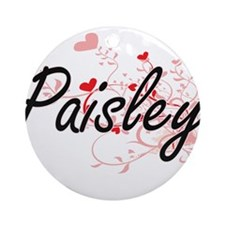 Paisley Artistic Name Design with Ornament (Round)