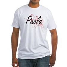 Paola Artistic Name Design with Hearts T-Shirt