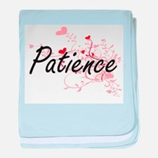 Patience Artistic Name Design with He baby blanket