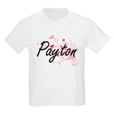 Payton Artistic Name Design with Hearts T-Shirt