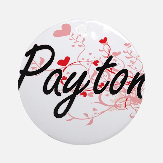 Payton Artistic Name Design with Ornament (Round)