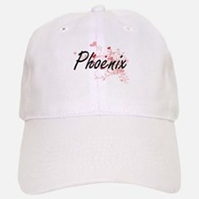 Phoenix Artistic Name Design with Hearts Hat