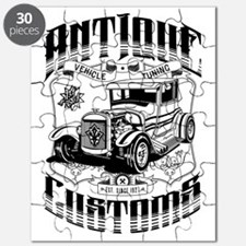 Hot Rod - Antique Customs (black) Puzzle